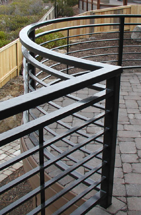 E11 Custom Curved Deck Railing