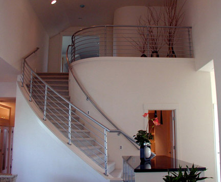 I9 Curved Staircase Railing