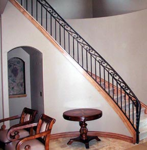 I10 Curved Staircase Railing