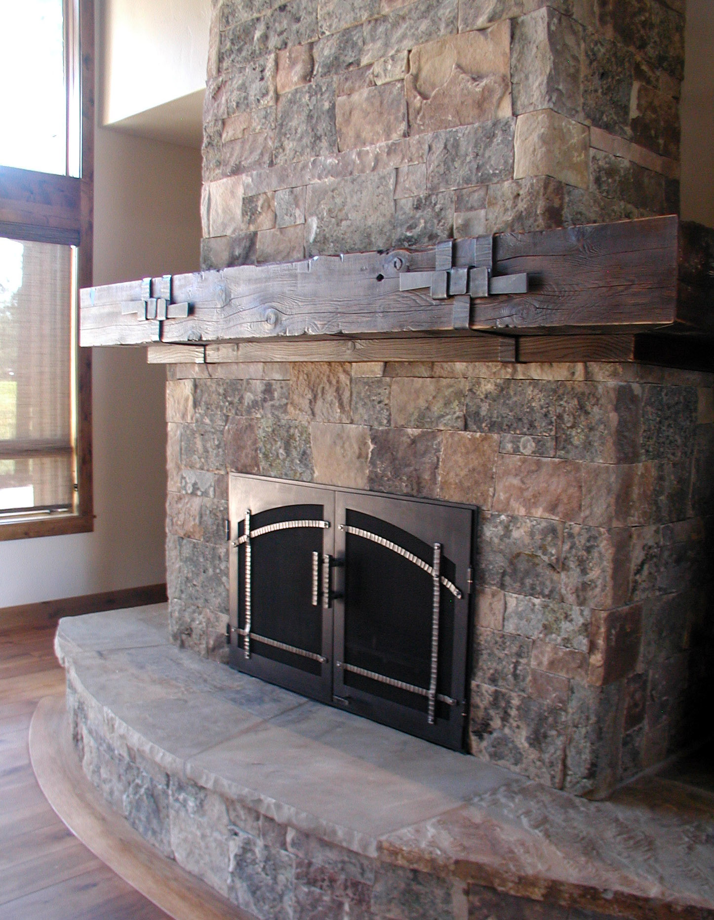 F3 Forged & Fabricated Fireplace Doors & Mantle Straps