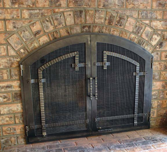 F5 Craftsman Fireplace Doors