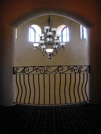 I13 Interior Balcony with Scrolls and Belly Pickets