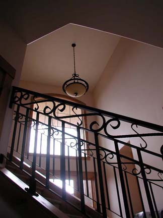 I30 Custom Stair Railing with Forged Scrolls