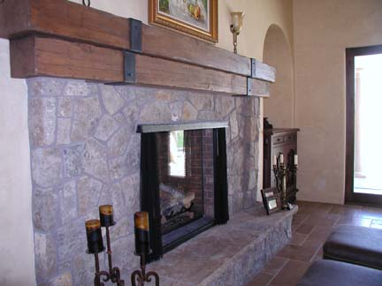 F7 Custom Mantle Straps and Fireplace Screen Frame