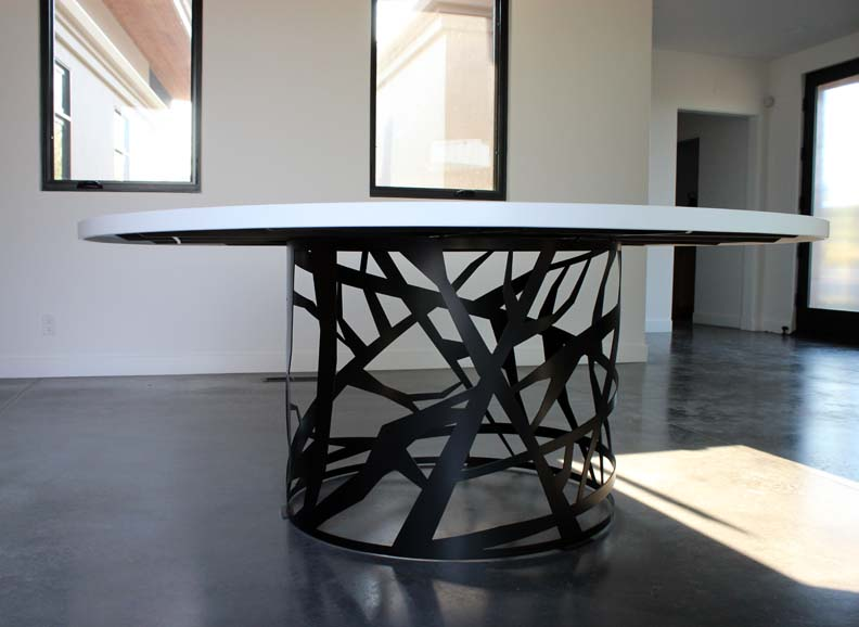 H1 Contemporary Round Dining Table
