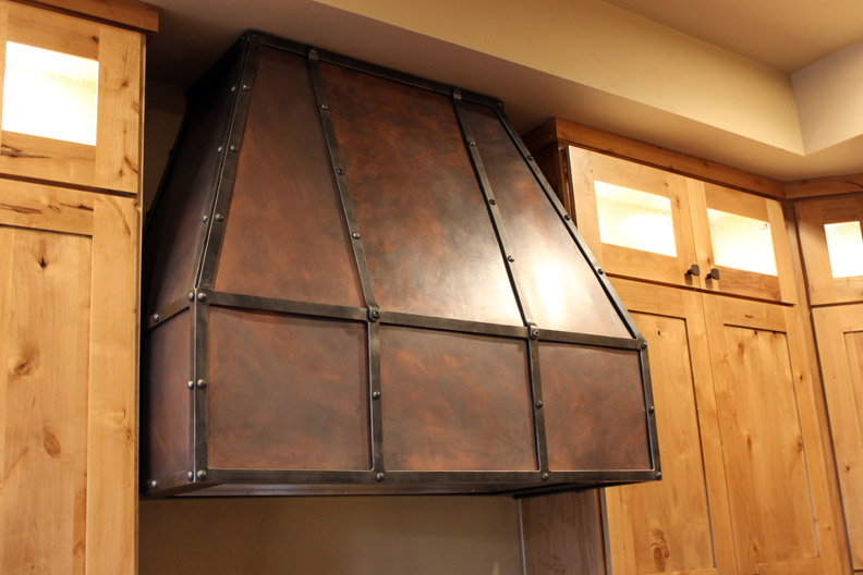 H5 Copper and Steel Vent Hood Cover