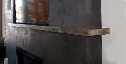 F9 Patinated Steel Mantel